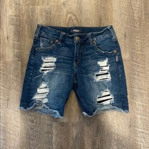 Silver Jeans Dark Wash Bermuda Denim Shorts